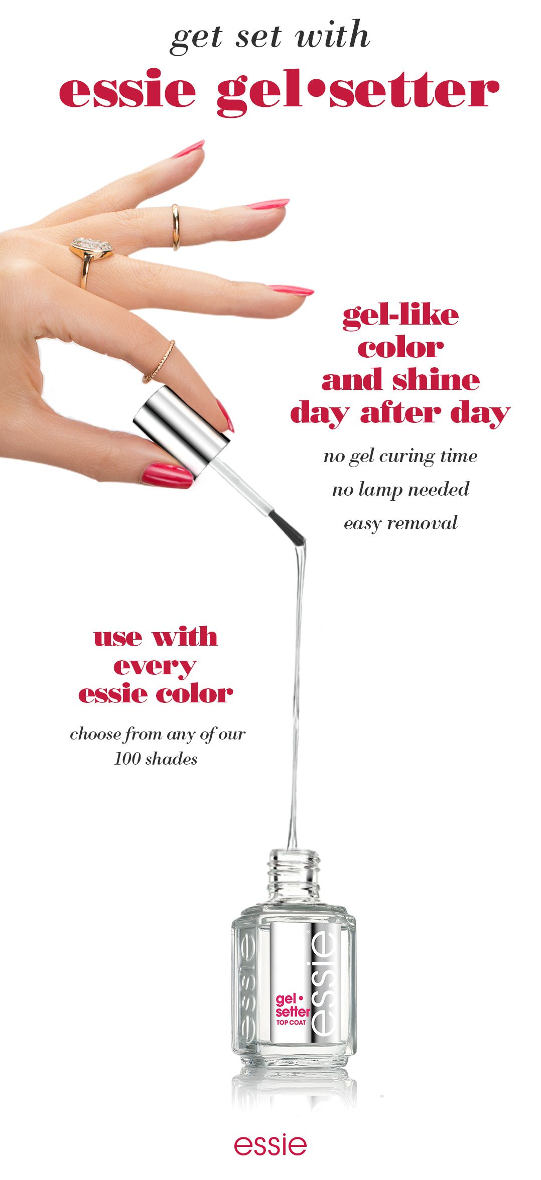 Gel-like color and shine without any of gel\'s hassles? Introducing ...