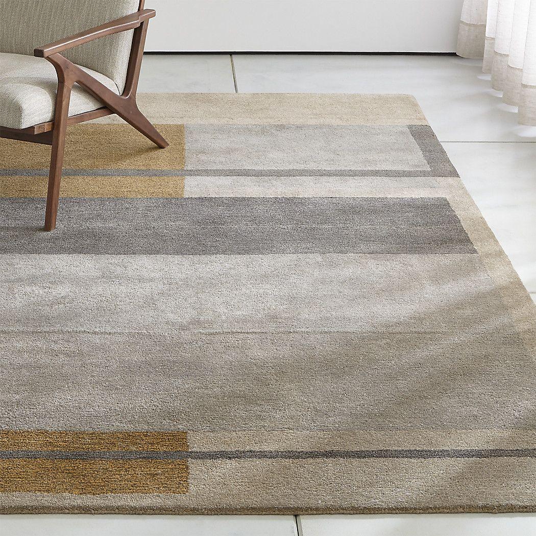 Kirk Color Block Rug Crate And Barrel Rugs Floor Rugs Types Of Carpet