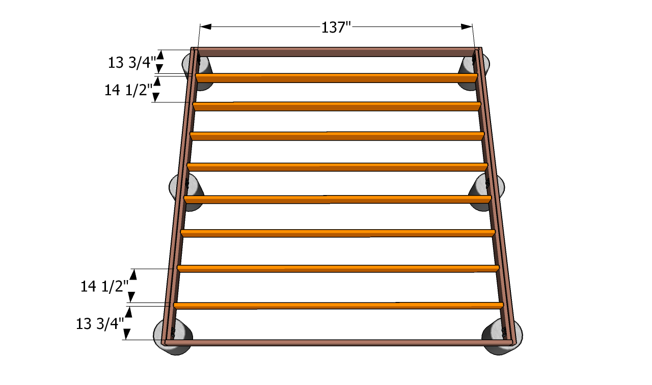 Ground Level Deck Frame Deck Frame Plans Ground Level Deck Ground Level Deck Plans How To Level Ground
