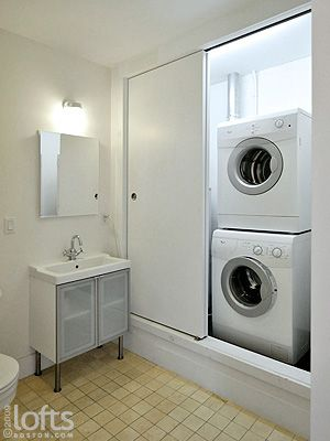 Boston lofts by inc boston residential loft sale 70 exchange street 204 for Washer and dryer in bathroom designs