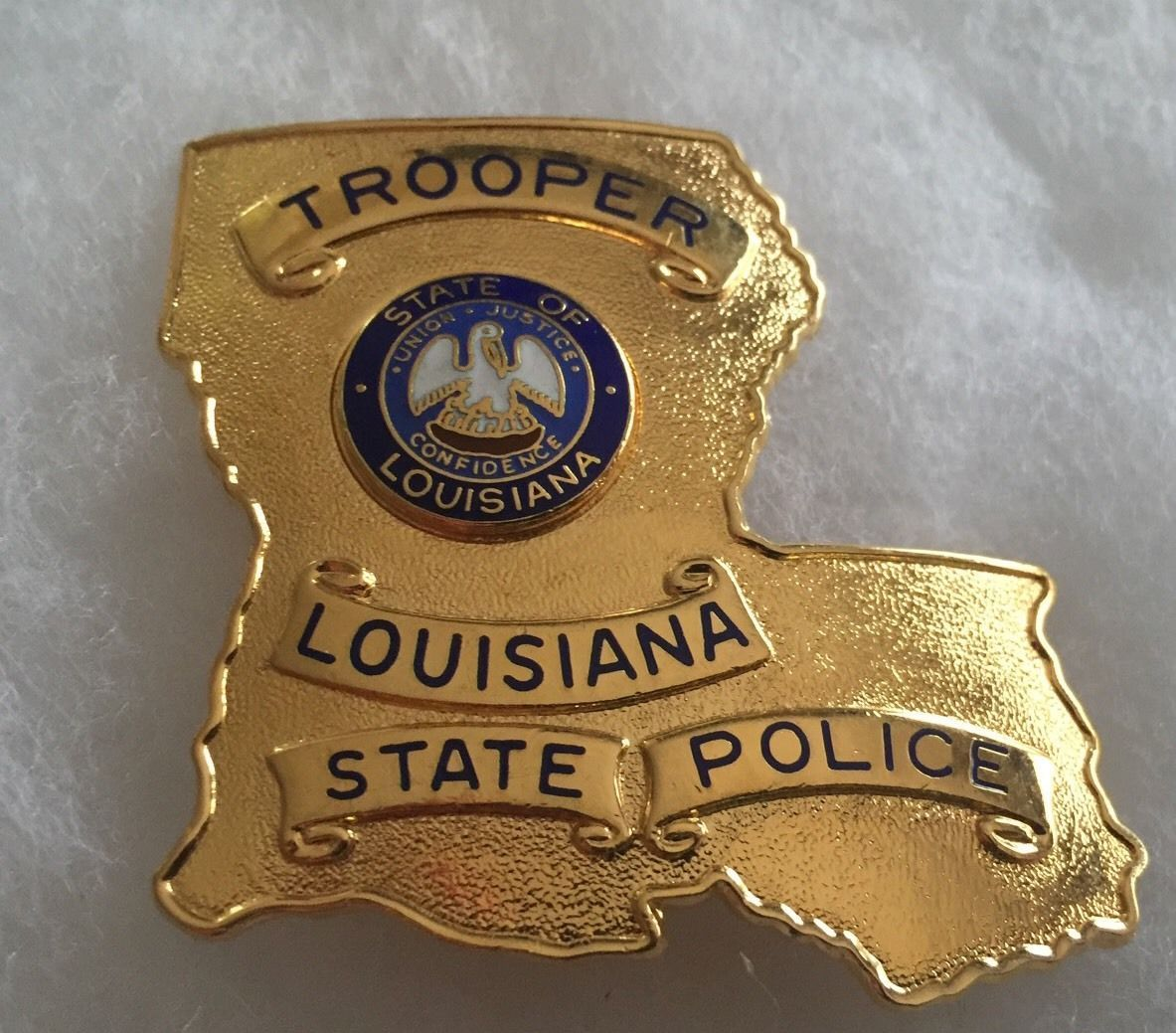 Louisiana State Trooper Blackinton This Represents That They R Charmed With 2031 Oxford For Dave I Think It Is Gold Fire Badge Police Badge State Trooper