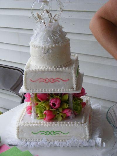 Wedding cake By shotgun52 on CakeCentral.com