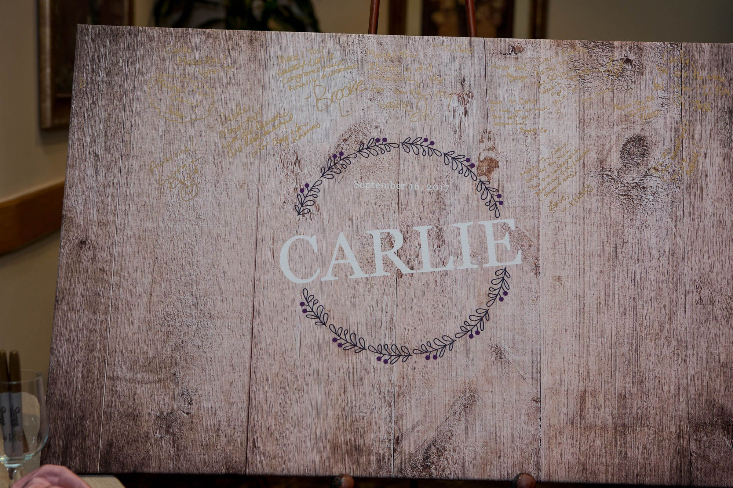 Rustic Wood Sign Wedding Guest