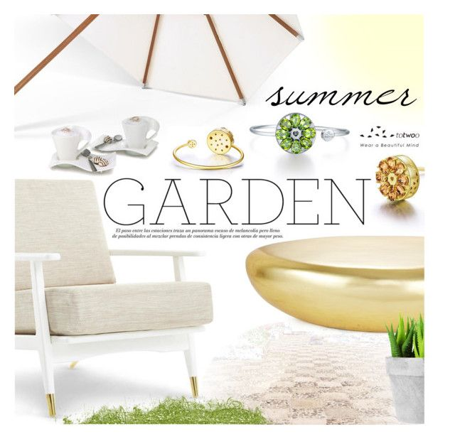 """Summer Garden"" by totwoo ❤ liked on Polyvore featuring interior, interiors, interior design, home, home decor, interior decorating, Skagerak and Villeroy & Boch"