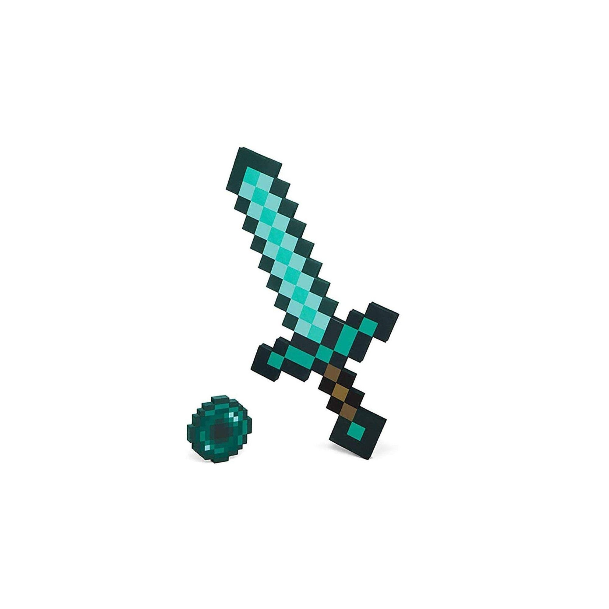 Thinkgeek Inc Minecraft Foam Diamond Sword Ender Pearl Role Play Adventure Kit Minecraft Toys Minecraft Minecraft Diamond Pickaxe