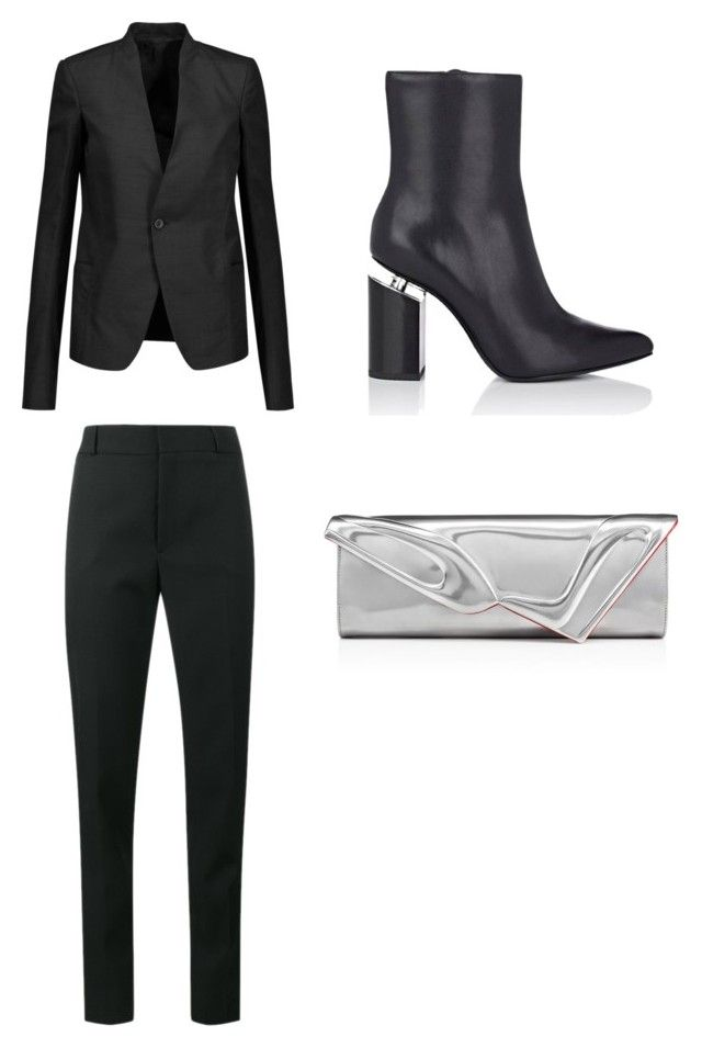 """Untitled #334"" by shamim1382 ❤ liked on Polyvore featuring Alexander Wang, Rick Owens, Christian Louboutin and Yves Saint Laurent"