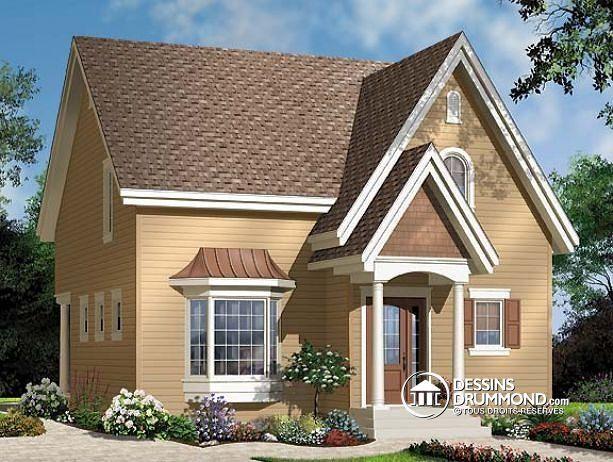 W3513 - Maison 2 étages, style champêtre économique, d\u0027inspiration - plan maison etage m