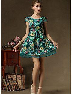 94e1b7c114 BLINX Women's Vintage/Sexy/Beach/Party/Work Short Sleeve Dresses ...