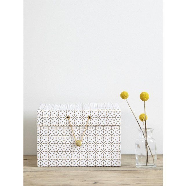 bo te carton motifs dor s cyrillus prix avis notation. Black Bedroom Furniture Sets. Home Design Ideas