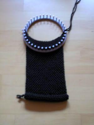 Berühmt Kinderleicht Schal stricken mit Strickrahmen. | Meine DIY Projekte KY43