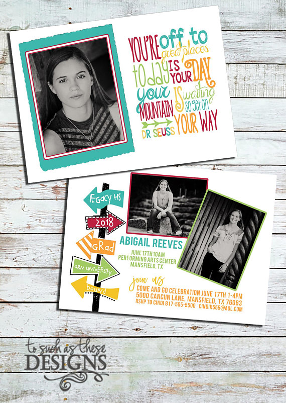 scripture digital graduation announcement two sided in 2018