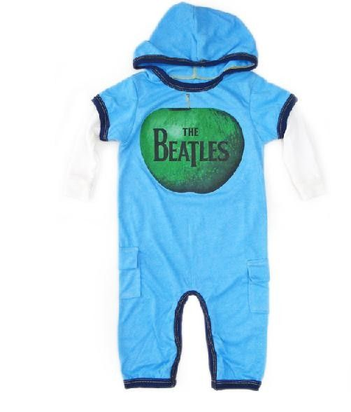 Beatles Baby Onesie Hooded Rowdy Sprout Beatles Baby Clothes