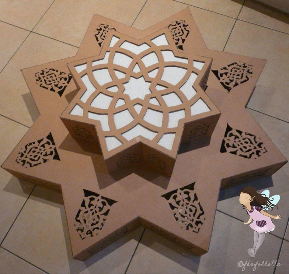 lustre oriental en carton montage termin oriental. Black Bedroom Furniture Sets. Home Design Ideas