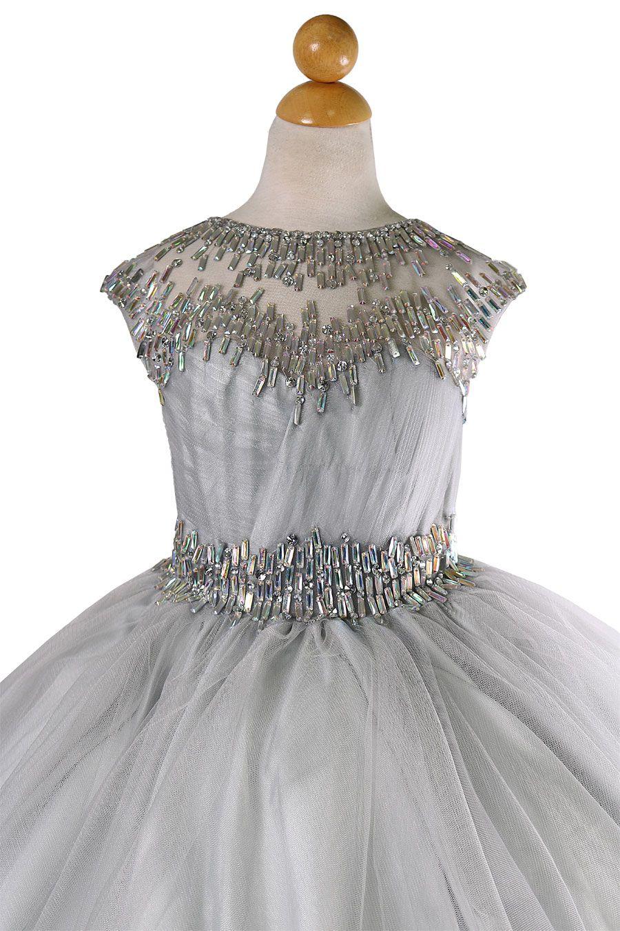 3e2f1c16d57 silver plus size girls pageant dresses