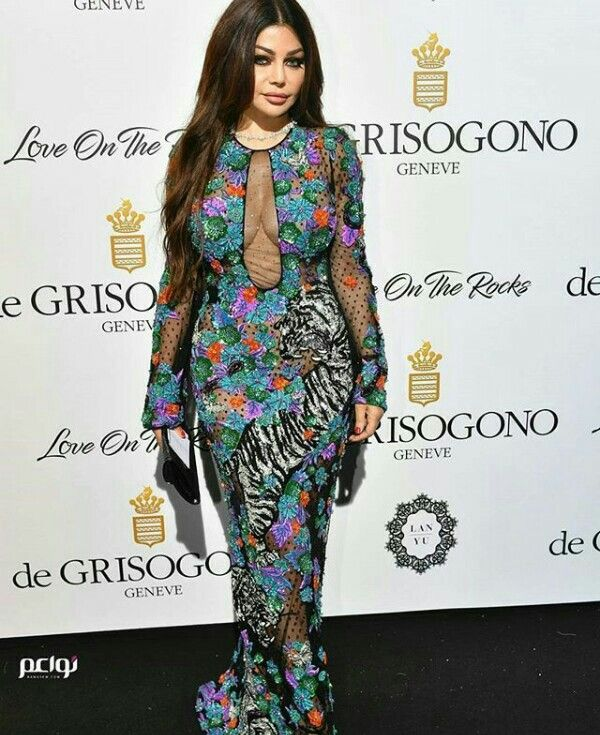 Haifa wehbe controversial dress color