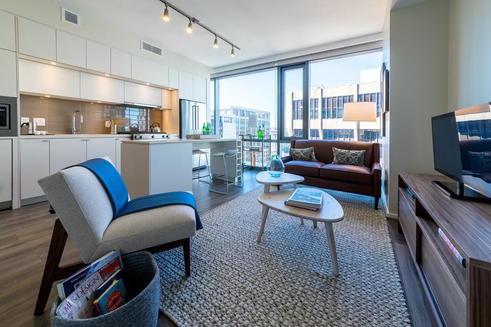 Central Place Arlington Va Satinflooring Highperformance Spartansurfaces Laminate Interiordesign R Multifamily Housing Luxury Apartments Apartment