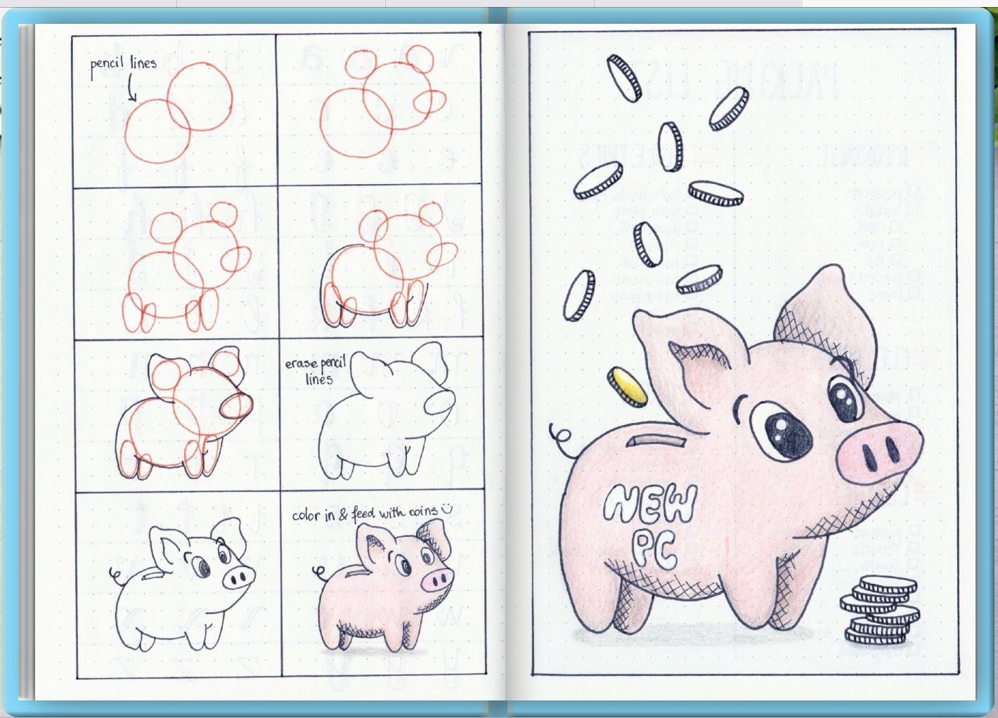 how to draw spider pig