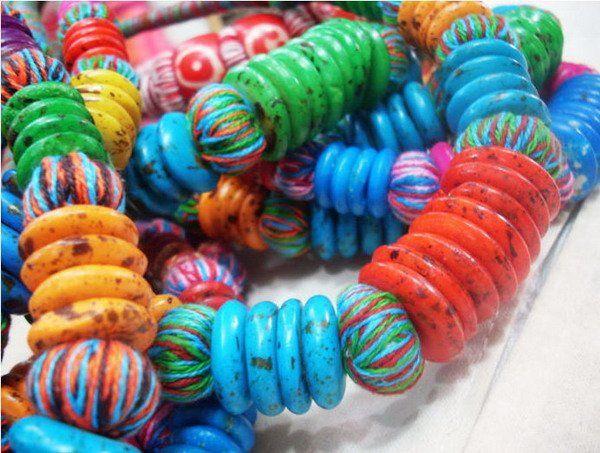 colorful tibetan necklaces