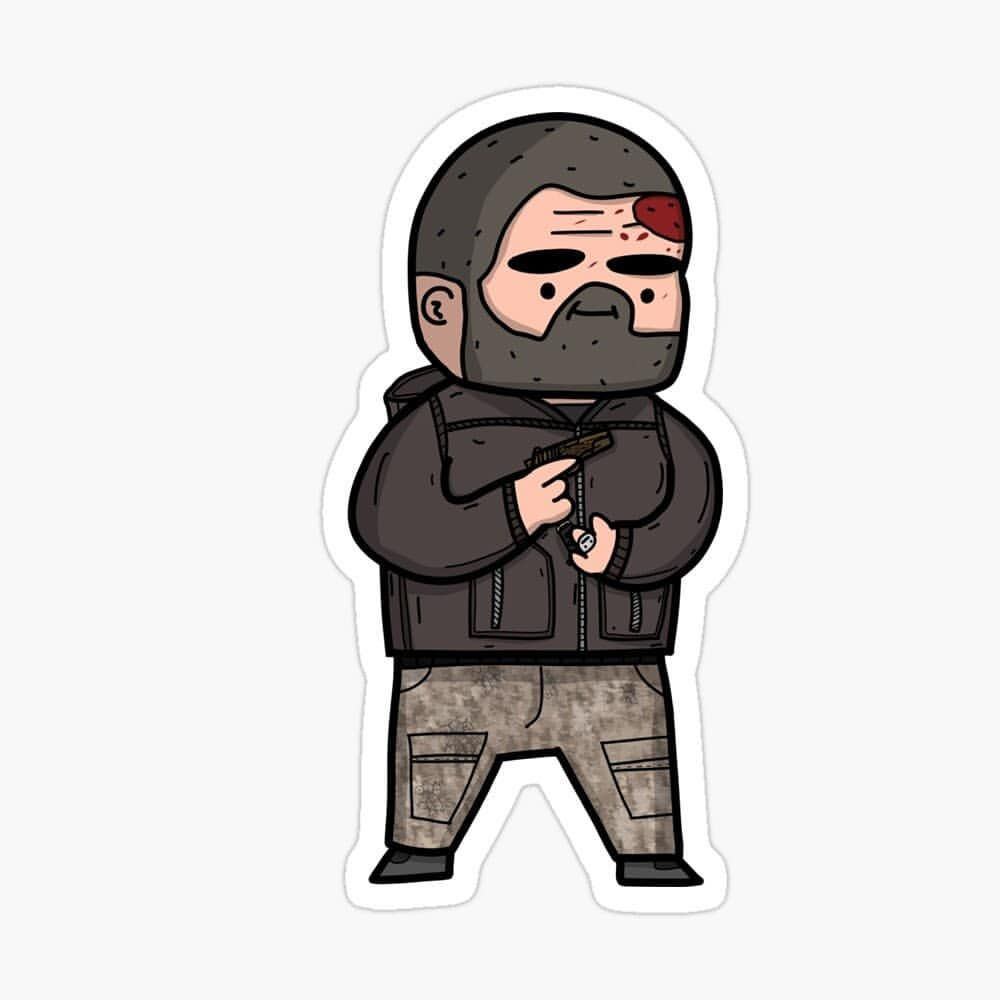 Custom S Scav Boss Reshala Turns Out He Has A Ring On His Left Hand The More You Learn When You Aren T Escape From Tarkov Vinyl Decal Stickers Vinyl Sticker