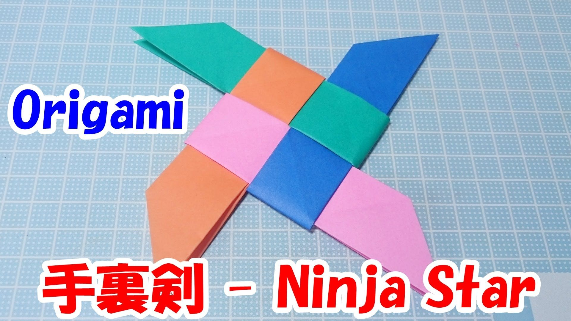 Origami Ninja Star Weapons Easy Tutorial Origami