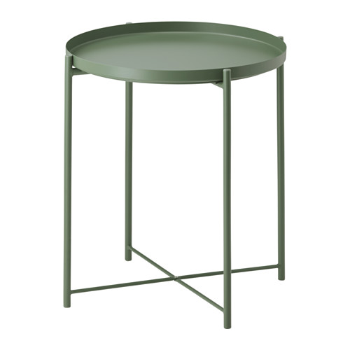 Ikea Gladom Tabletttisch Dunkelgrun Das Abnehmbare Tablett