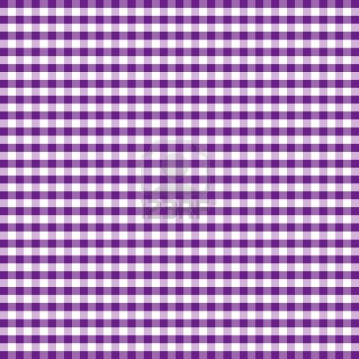 Seamless Pattern, Purple and White Gingham Check