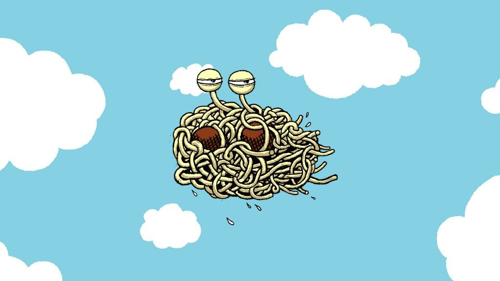 FSM Flying Spaghetti Monster | Monstre en spaghetti volant / Flying  spaghetti monster