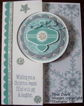 Christmas Ornament Card: Circle Card Thinlits Die