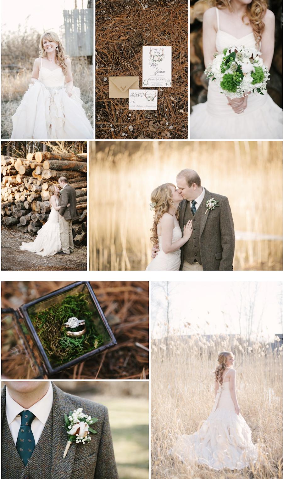 Taylor And Joshuas Woodland Deer Themed Rustic Wedding Via Love Inc
