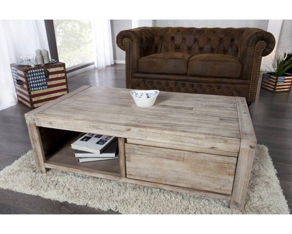 Redoutable Table Basse Bois Clair Décoration Française Table