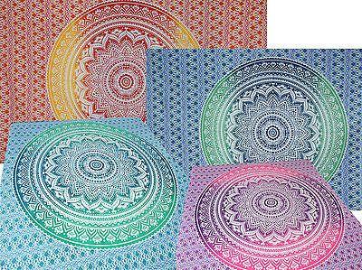 Tagesdecke Wandbehang Deko Tuch Indien Goa Mandala Tepisery Picknick Überwurf