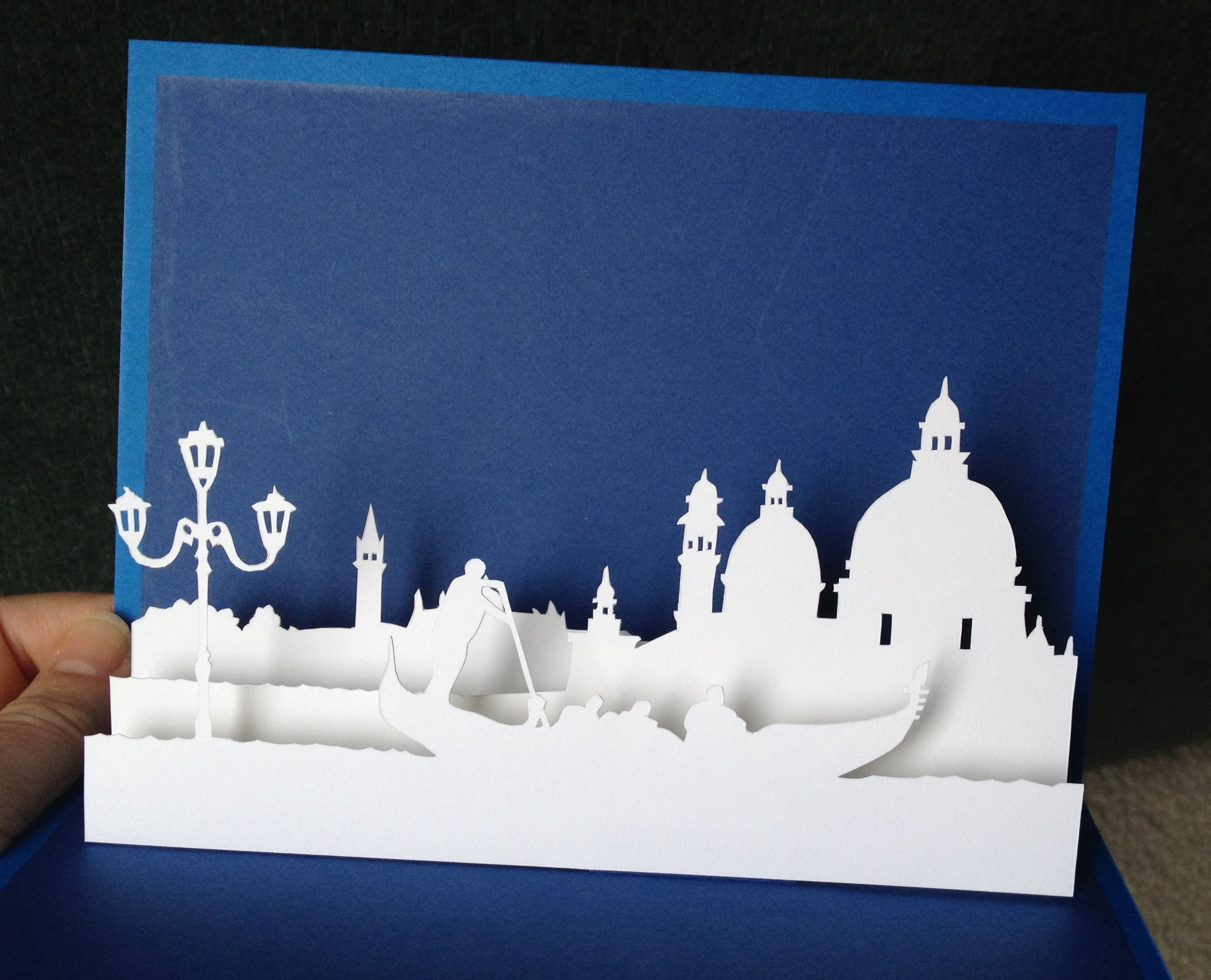 Venice pop-up card (template from paysages en pop-up) | Nana Cards ...