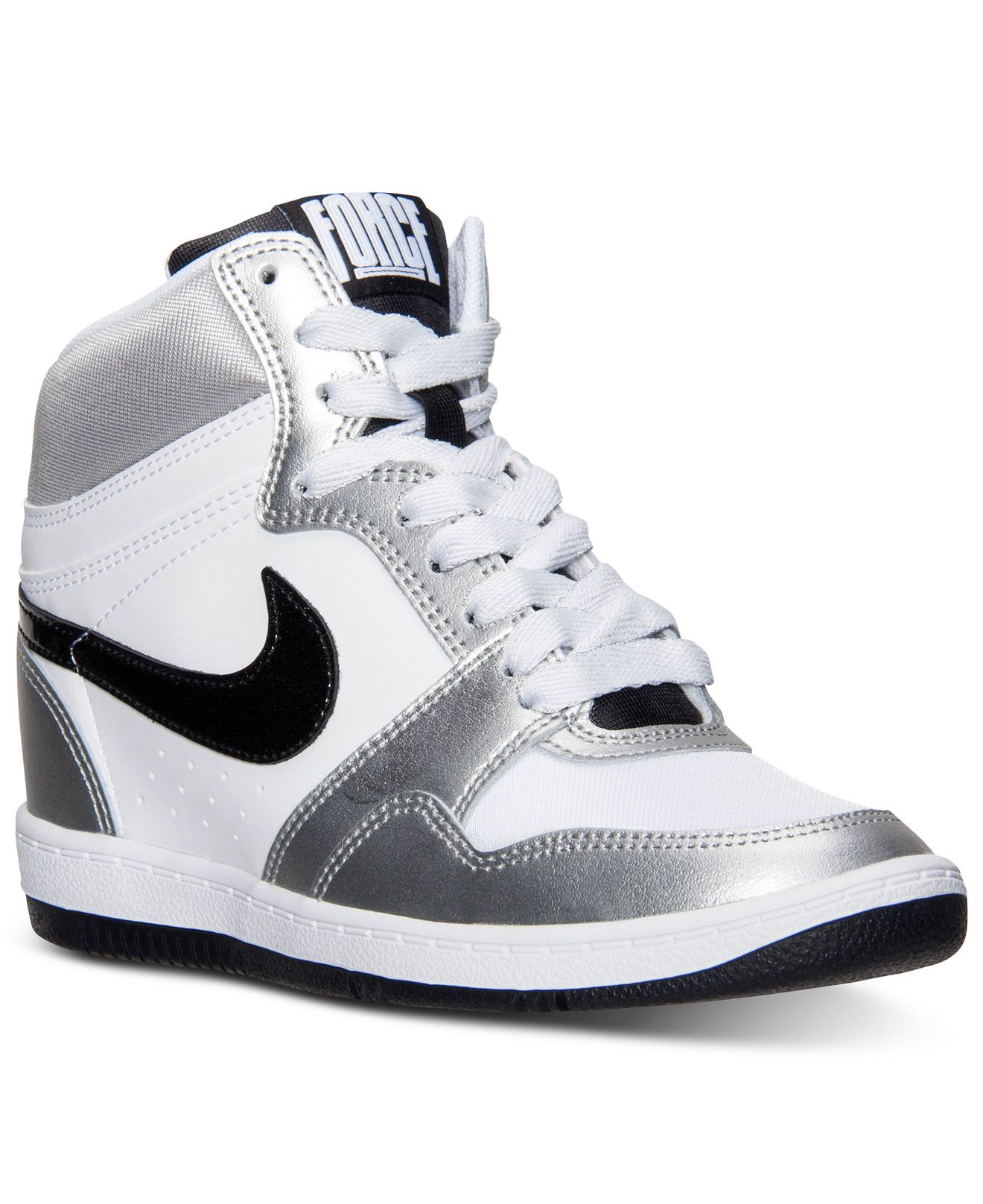 online store 42fae bd7d7 denmark nike womens force sky high casual sneakers from finish line  sneakers shoes macys 2c60c 7e9ce
