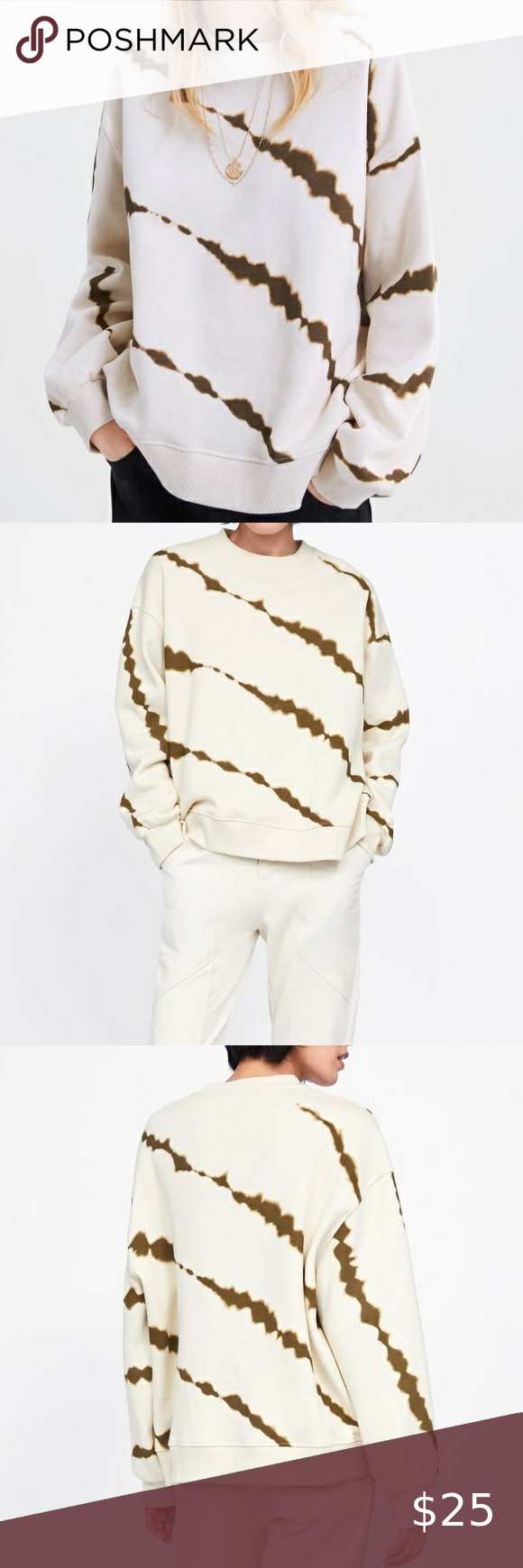 Zara Tie Dyed Sweatshirt Tie Dye Sweatshirt Clothes Design Tie Dyed [ 1740 x 580 Pixel ]