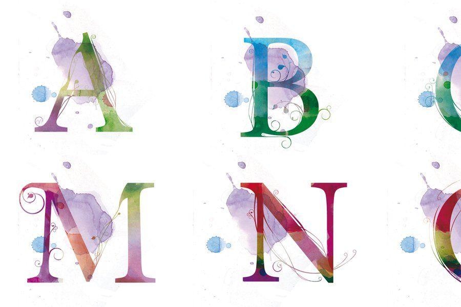 Watercolor Letters - pretty.
