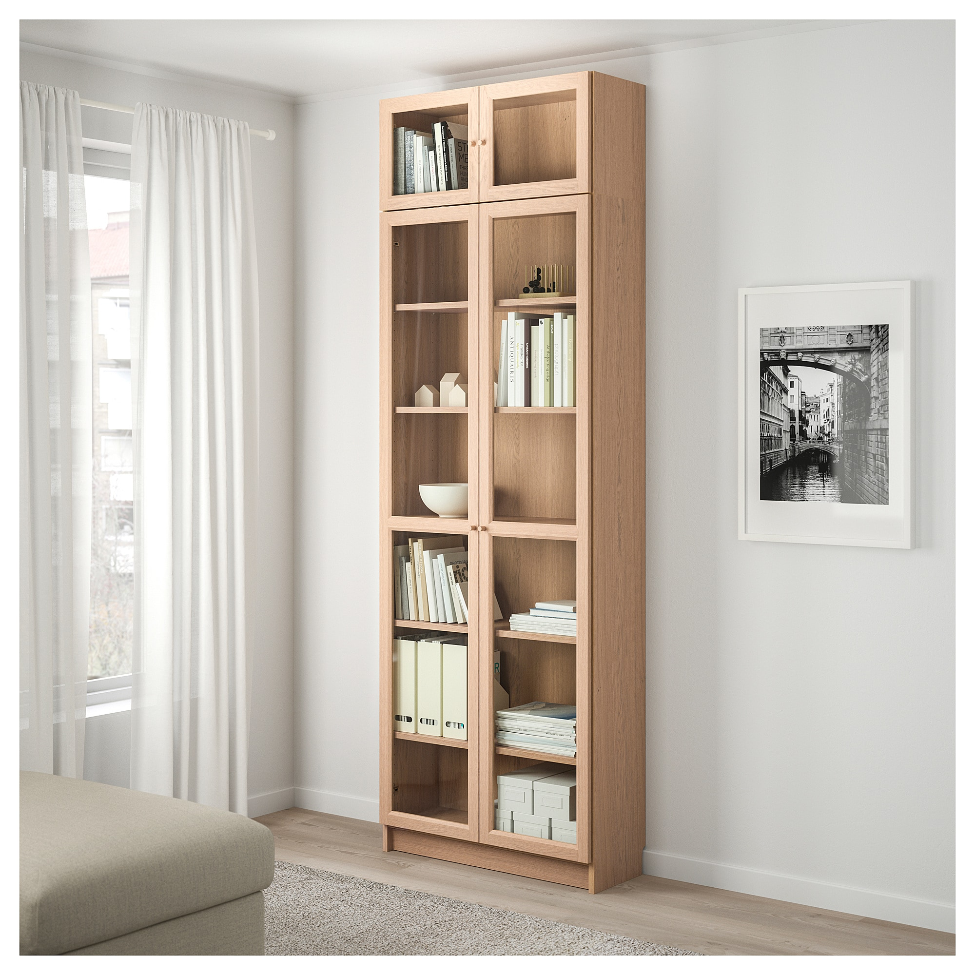 Image result for MORLIDEN | Bookcase with glass doors