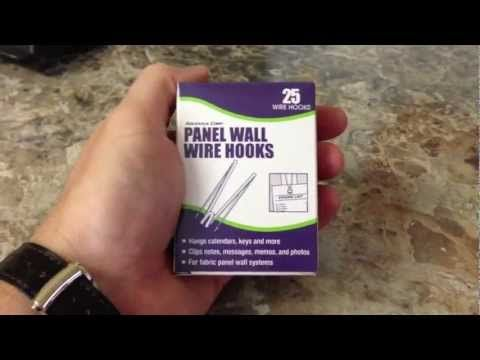 Advantus Panel Wall Wire Hooks Unboxing If You Work In A Cubicle This Product Is A