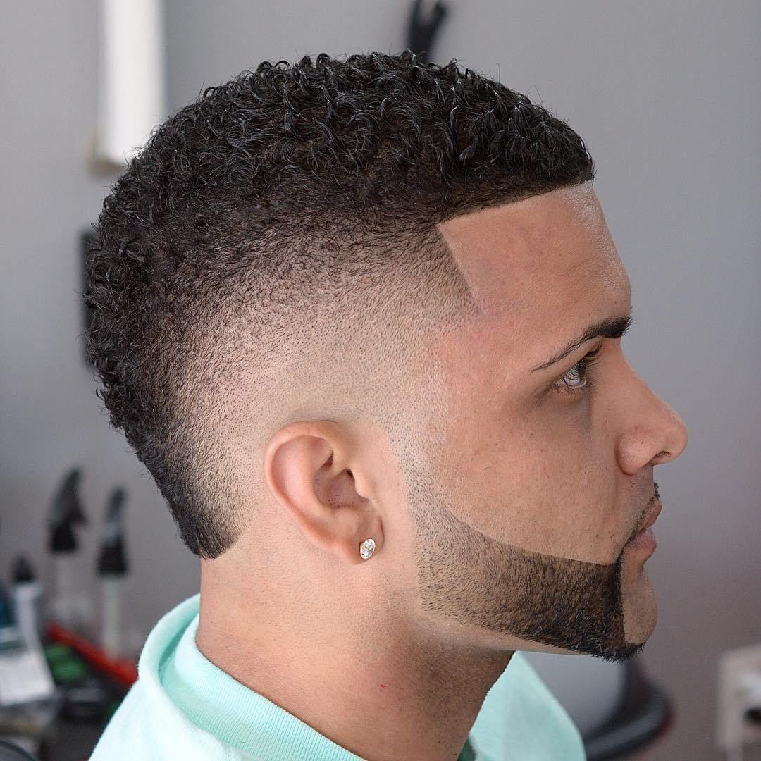 Curly Faux Hawk Mohawk Hairstyles Men Fade Haircut Mohawk Hairstyles