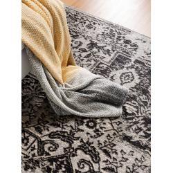 Photo of benuta Trends Flachgewebeteppich Tosca Schwarz 230×340 cm – Vintage Teppich im Used-Lookbenuta.de