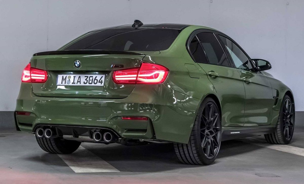 Lampe Rs7 Urban Green Bmw M3 Is A Rare Sighting Thanks To Bmw Individual
