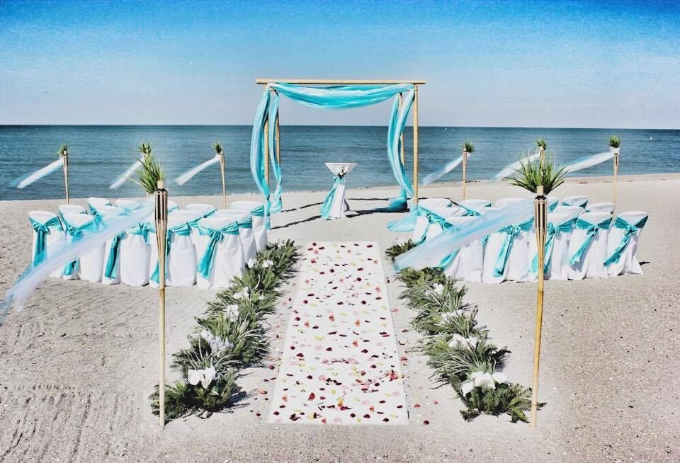 Simple But Beautiful Setting Perfect For Charleston Beach Wedding On Isle Of Palms Or Kiawah