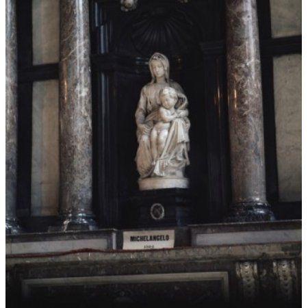 Madonna & Child Michelangelo Buonarroti (1475-1564Italian) Notre Dame Bruges Belgium Canvas Art - Michelangelo Buonarroti (24 x 36)
