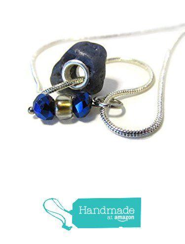 #Leland #Bluestone Bead #Necklace, 925 Sterling Silver Grommets, Silver Snake 20 Inch Chain, Blue Crystal and Mercury Bead Charm from ShorelineDesigned http://www.amazon.com/dp/B019BRYDWI/ref=hnd_sw_r_pi_dp_jwwSwb1458D6J #handmadeatamazon