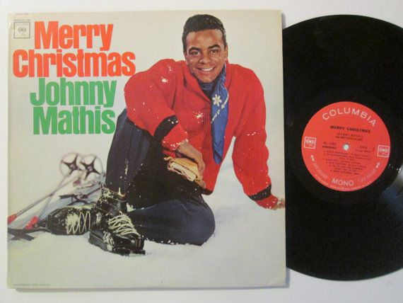 vintage johnny mathis merry christmas vinyl by recordstoregirl - Johnny Mathis Merry Christmas