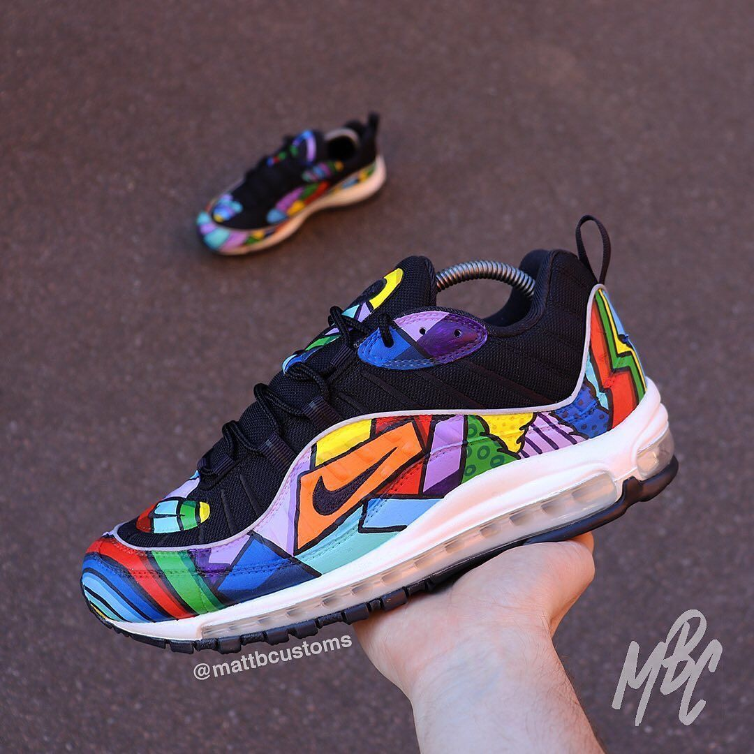 abrazo patrulla La Iglesia  AirMax 98s Colorful ( Comment what you think This Custom shoe was Don… | Nike  air max, Nike, Custom shoes