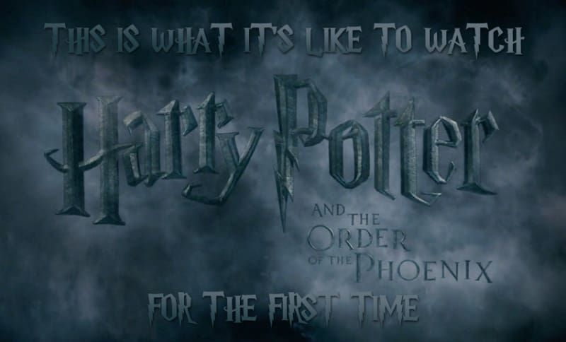 This Is What It S Like To Watch Harry Potter And The Order Of The Phoenix For The First Time Harry Potter 2001 Harry Potter What Is Like