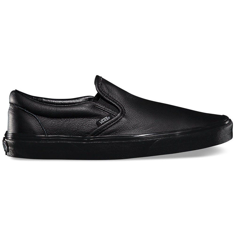 25ff869c3f Vans shoes - Classic Slip-On (Premium Leather) Black   Black 36 VXG8EW7  sneakers