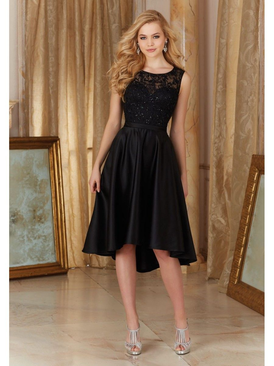High low illusion neckline embroidered black bridesmaid dresses high low illusion neckline embroidered black bridesmaid dresses 5602034 ombrellifo Choice Image