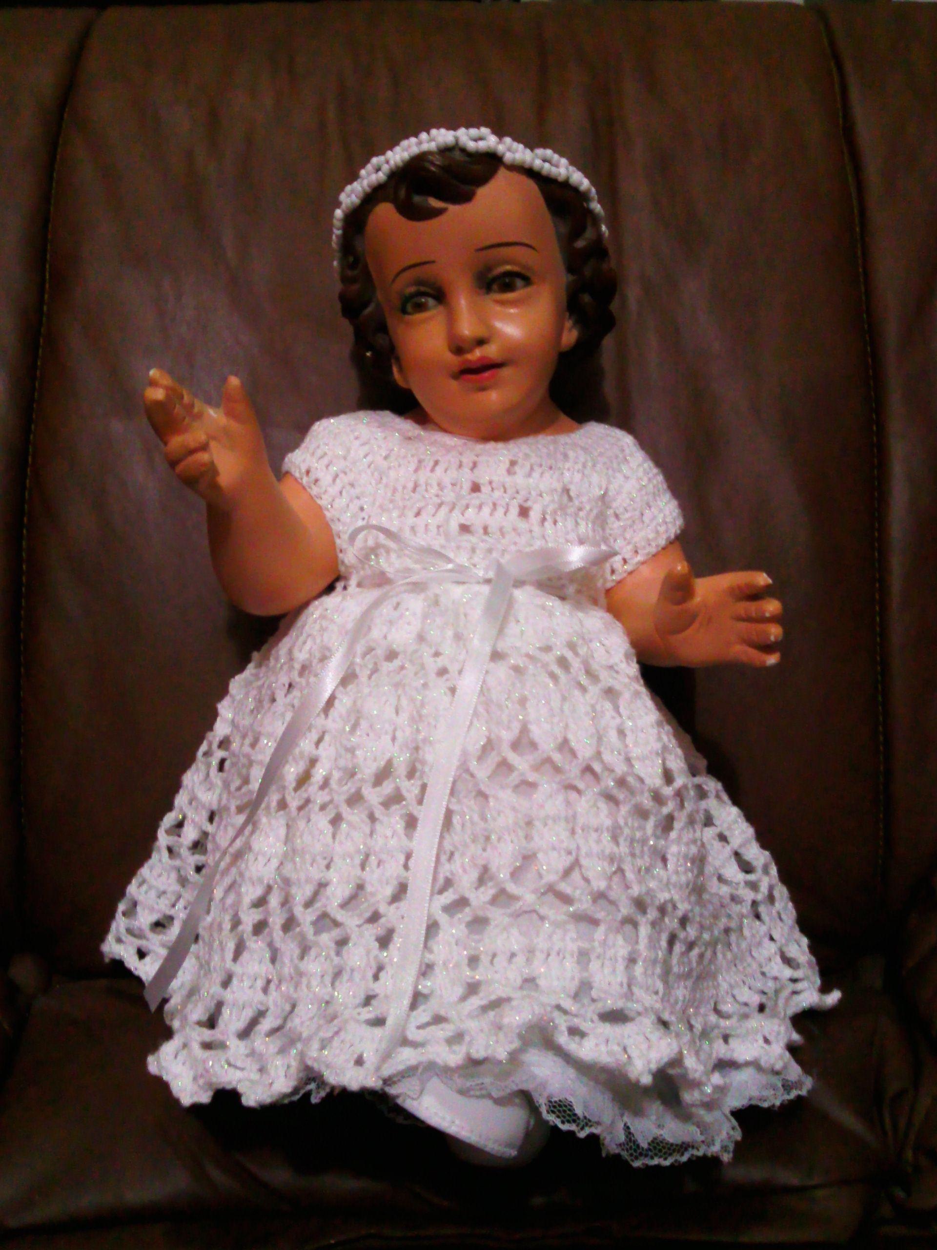 Crochet Vestido Niño Dios Angelik Niño Dios Vestido