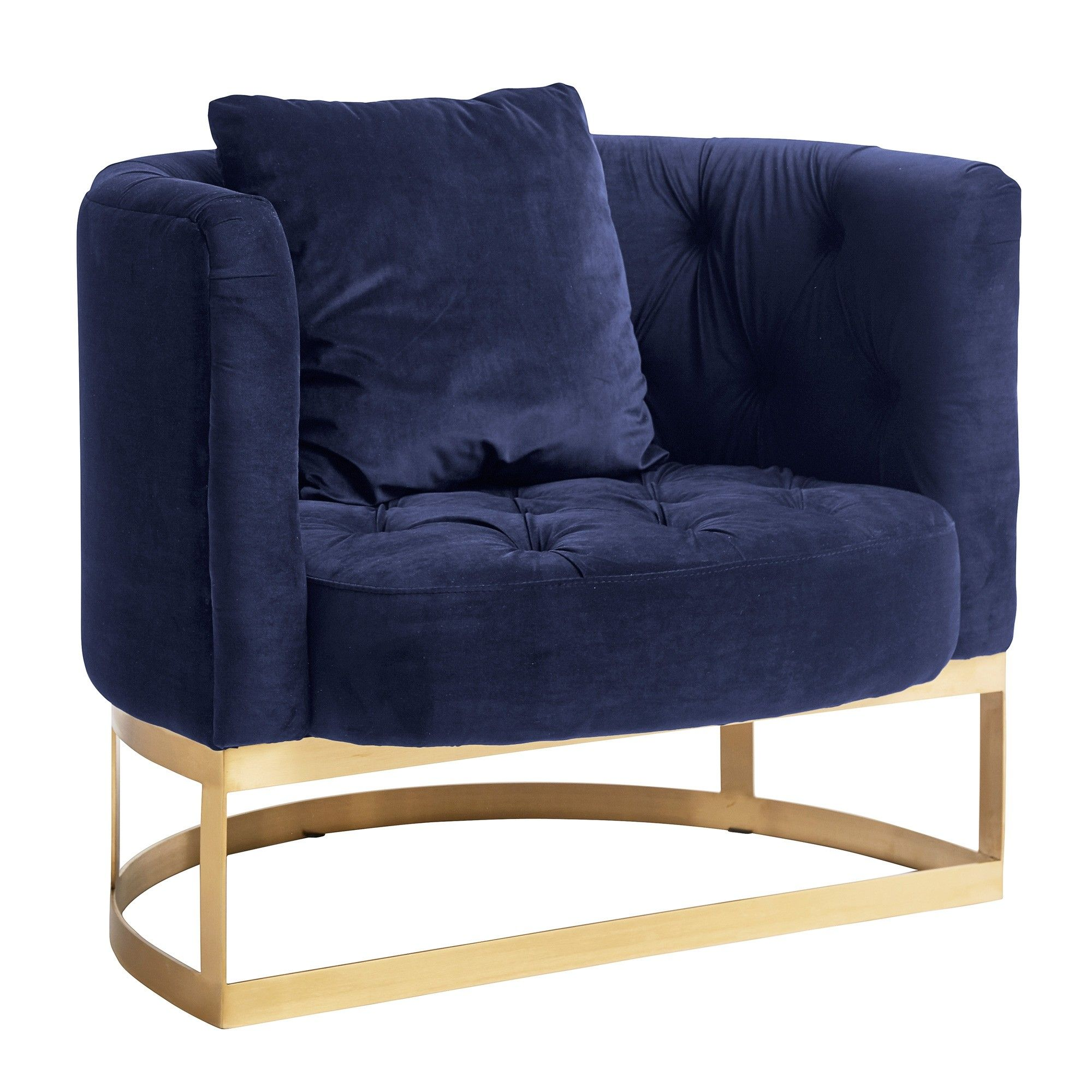 Half Circle Armchair In Blue